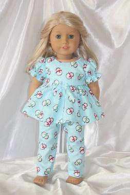 Dress Pajamas fits 18inch American Girl Doll Clothes Christm