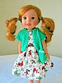 Dress, Purse & Sweater for Wellie Wishers and similar 14 inc