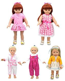 XADP Baby Clothes Dresses Outfits for American Girl and 16-