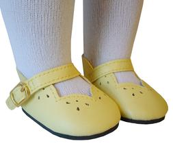 "Easter Yellow Scallop Shoes for 18"" American Girl Dolls by D"