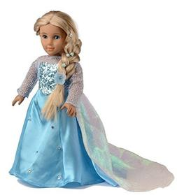 ebuddy Sparkle Princess Dress Clothes Fits 18 inch Dolls Inc