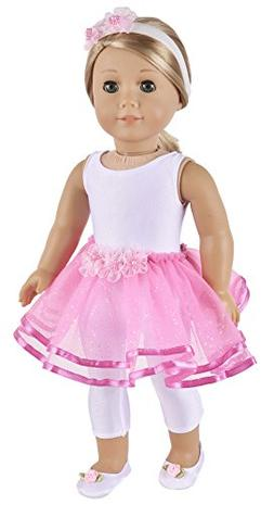 Ebuddy Elegant Ballet Dance Doll Dress Clothes Fits 18 Inch