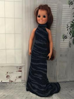 """~ Elegant  long dress  ~ for vintage 17 1/2"""" Ideal Crissy,Tr"""