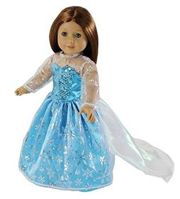 Dress Along Dolly Elsa Inspired Princess Doll Clothes for Am