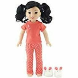 Emily Rose 14 Inch Doll Clothes/Clothing Pretty Coral Pajama