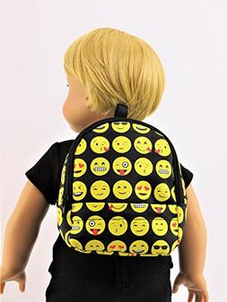 """Emoji Backpack 18 Inch Doll Clothes - Fits 18"""" American Girl"""