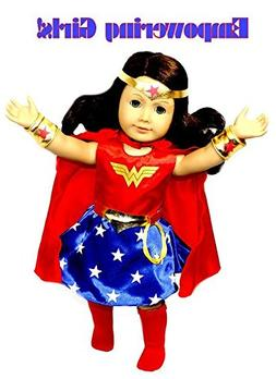 Arianna Empowering Wonder Woman 7 pcs. Doll Costume fits 18