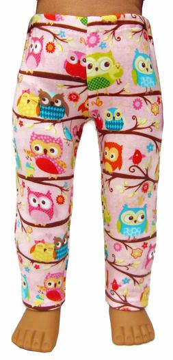 "EXCLUSIVE to DCSB! Pink Owl Print Leggings fits 18"" American"