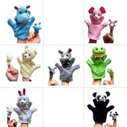 Family Finger Puppets Cloth Doll Baby Toddler Educational Ha