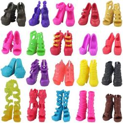 Fashion 10 Pairs Girl Doll High Heel Shoes For High Doll Mon