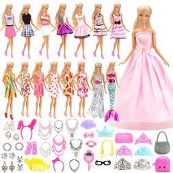 Barwa Fashion 55 Items/Set Doll Accessories Clothes =15 Rand
