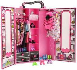 BARWA Fashion Closet Wardrobe 42 Pcs Doll Clothes Sets for 1
