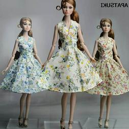 Fashion Countryside Floral Dress For 11.5inch Doll Clothes G