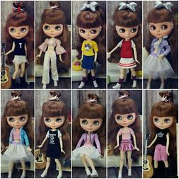 Fashion Doll Clothes Set For Blythe Doll Outfits Tank Top Co