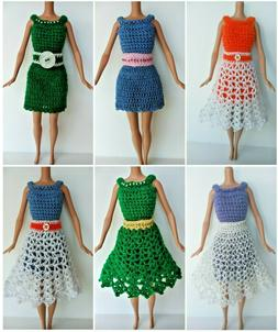 Fashion Doll Dress Skirt Belt Mix-N-Match Clothes OOAK Handm