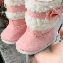 Fashion Doll's Pink Shoes Boots For 18 Inch Girl Doll Clothe