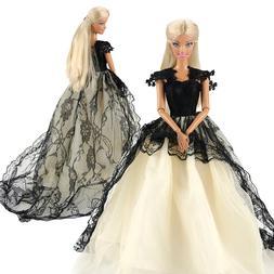 Fashion Handmade Black White <font><b>Dolls</b></font> Acces