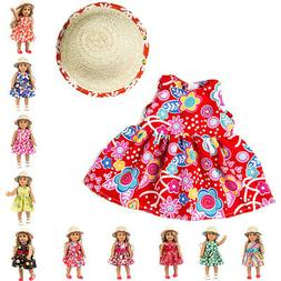 Fashion Handmade Doll Clothes Dress Cap For 18 inch American