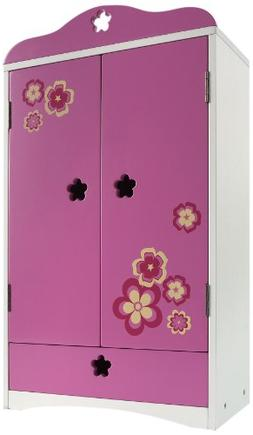 """Madame Alexander Favorite Friends Wood Armoire for 18"""" Dolls"""