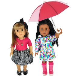 "Fits 18"" American Girl Doll Clothes -Raincoat Set with Umbre"