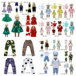 """Fits 18"""" inch Dolls 43cm baby dolls Handmade fashion Doll Cl"""