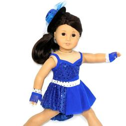 Arianna Fits American Girl 18 Doll - Jazz Vibrant Blue Dance