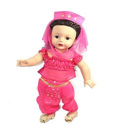 Arianna 4pcs Pink Gold Genie Costume Complete - Pink & Gold