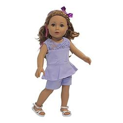 fits american doll trendy purple
