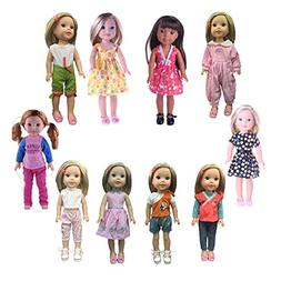 Luckdoll 5pcs Clothes Fits 14 inch American Girl Doll such a