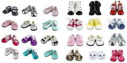 Barwa 5 Pairs Shoes Fits 18 Inch American Girl Dolls Xmas Gi