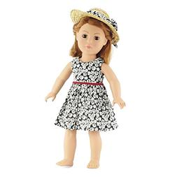 18 Inch Doll Clothes/clothing Fits American Girl - Black Flo