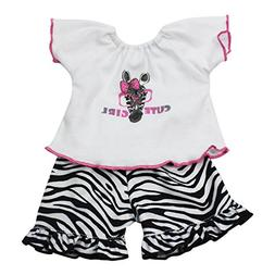 Arianna Fits American Girl 18 Doll - Pink Zebra 2pc Pajamas