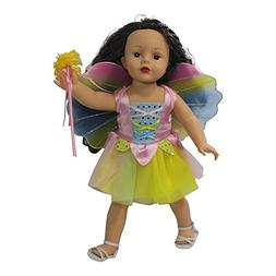 Arianna Fits American Girl 18 Doll - 3 pcs Fairy Costume - D