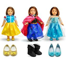 """For American Girl 18"""" Inch Dolls Princess Dress Clothes Outf"""