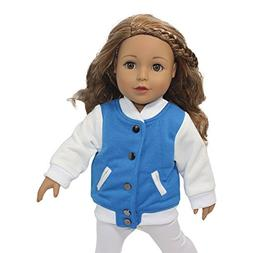 Arianna Fits American Girl 18 inch Doll -Varsity Letterman J