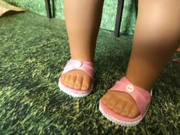 American Girl fitting doll shoes, 18 inch doll clothes, doll