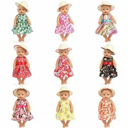 Floral Fashion Baby Born Doll Clothes Wear Fits 43CM Babies