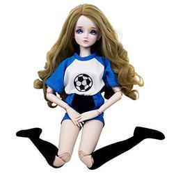 Football Baby Girl 1/3 BJD Doll 22inch BJD Doll + Makeup + C