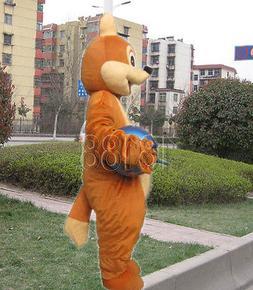 fox adult mascot cartoon costume creative clothing