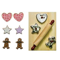 """New French Baking Tools 18"""" Doll Accessory Set with 3 Cook"""