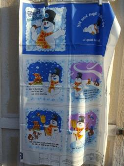 """Frosty The Snowman Cloth Book Panel  Finished size 10 1/2"""" X"""