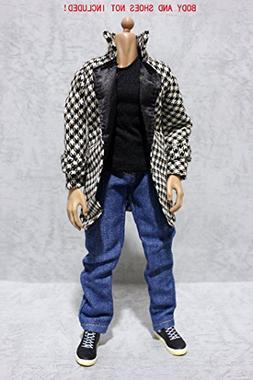 Artcreator_BM FT063 1/6 Houndstooth Overcoat,Vest,Jeans Full