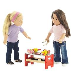 18-inch Doll Furniture   Camping Barbecue BBQ Grilling Set -