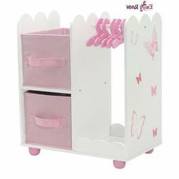 18 Inch Doll Furniture | Beautiful Open Wardrobe 18 Inch Dol
