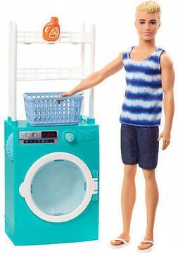 Barbie FYK52 Ken Doll & Laundry Playset, Multicolor