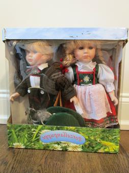 Porzellanpuppe German Porcelain Dolls - Boy and Girl in Trad