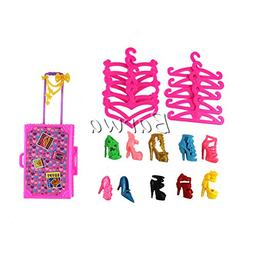 Barwa Gift Sets 10 Clothes Hangers + 10 Shoes + 1 Suit Case