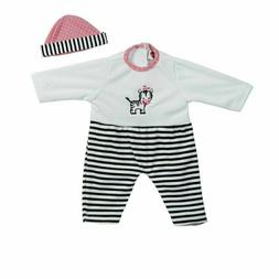 giggle time baby doll zebra stripes clothes