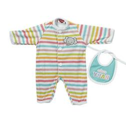 Adora Giggle Time Baby Doll Outfit - Stripe Elephant