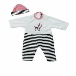 Adora Giggle Time Baby Doll Outfit - Zebra Stripes